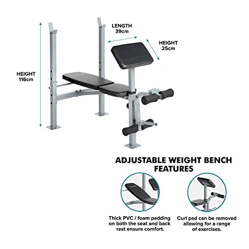 Gym Equipment Gold Coast: Gold Coast Adjustable Multi Weight Bench With Barbell Rack