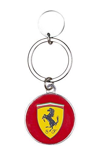 Scuderia Ferrari Formula 1 Rounded Key Chain with - Ferrari Logo New