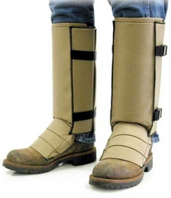 Snake Proof Gaiters (Crackshot Snake Guardz Socks, Tan, Large)