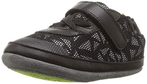 Robeez Boys' Low Top Sneakers-Mini Shoez Crib Shoe, Jax Athletic Black, 18-24 Months M US - Shoes Robeez Athletic