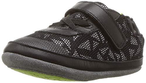 Robeez Boys' Low Top Sneakers-Mini Shoez Crib Shoe Jax Athletic Black 18-24 Months M US ()