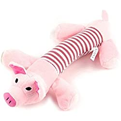 UEETEK Pet Puppy Dog Toys Chew Toys Squeaker Squeaky Plush Sound Pig Toy for Pets