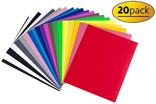 "Heat Transfer Vinyl Sheets for Crafting (12"" x 10"") 