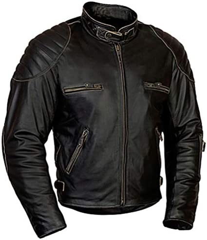 Morabe Motorradbekleidung Motorrad Lederjacke Mbw Retro Jacke Rusty Auto