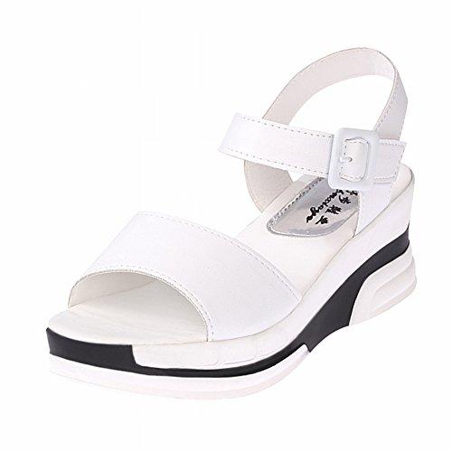6da9d63fb Outlet YTTY Sandalias Plataforma Impermeable Tide All Match Zapatos para  Estudiantes Cuñas Fondo Plano Muffin Cospel