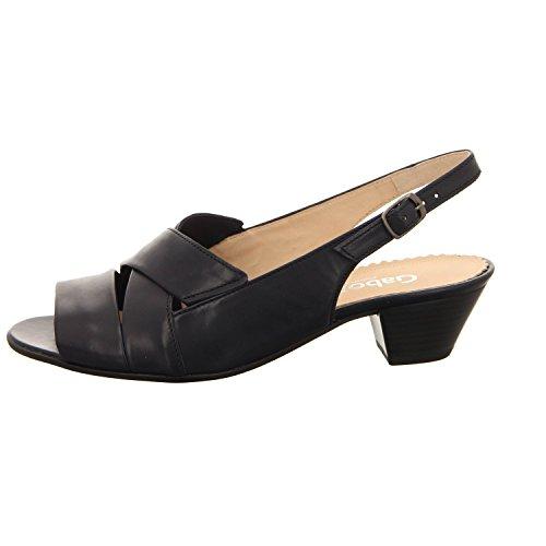 Gabor 66571-56 - Sandalias de vestir para mujer azul marino