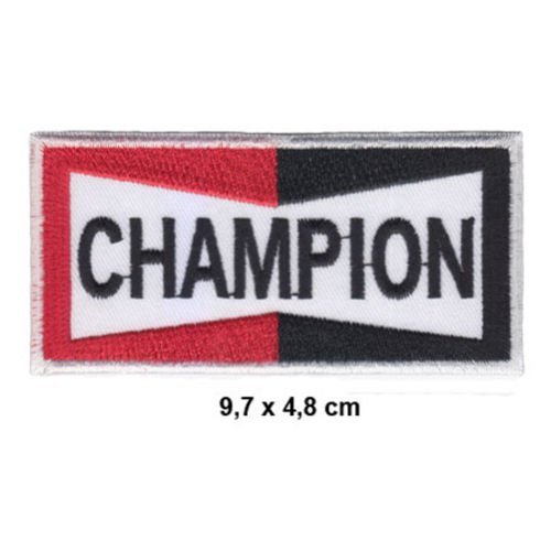 CHAMPION Spark Plugs spark Motorsport Moto GP Formula 1 F1 Racing Race  jacket t shirt Polo Patch Sew Iron on Embroidered