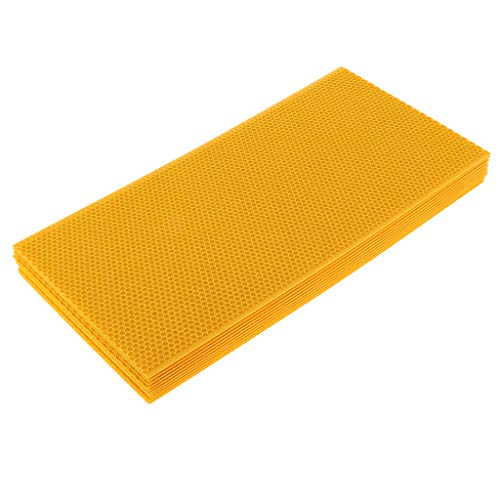 Almencla 10pcs Beeswax Sheet 100% Pure Nature Bee Nest Foundation Beeswax Sheet for Beekeepers ()