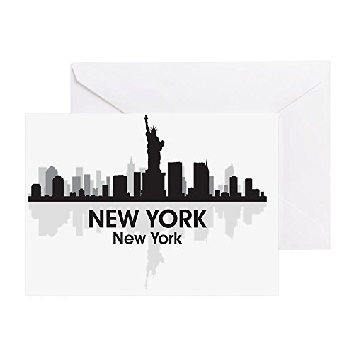 Skyline Christmas Card (CafePress - New York Skyline - Greeting Card, Note Card, Birthday Card, Blank Inside Matte)