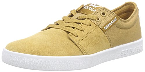 Supra - Stacks II, Senakers a collo basso, unisex Marrone (Woodthrush - White Wod)