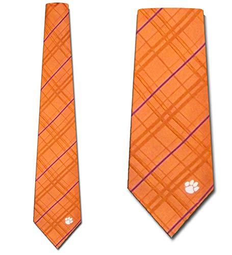Clemson Oxford Stripe Woven Silk Necktie