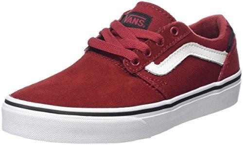 Vans Unisex-Kinder Chapman Stripe Low-Top Rot (Varsity Red/Black)