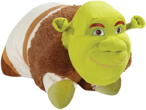 Pillow Pets Authentic DreamWorks Shrek, Folding Plush Pillow