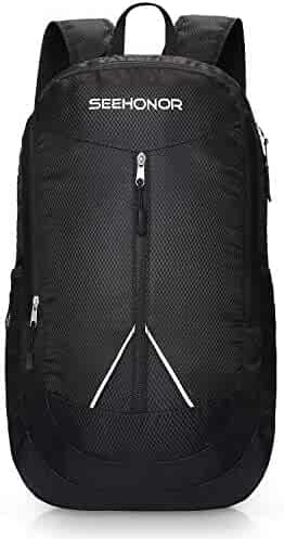 f872cc660a SEEHONOR Packable Lightweight Backpack Hiking Daypacks Foldable Durable  Water Resistant Travel Backpack