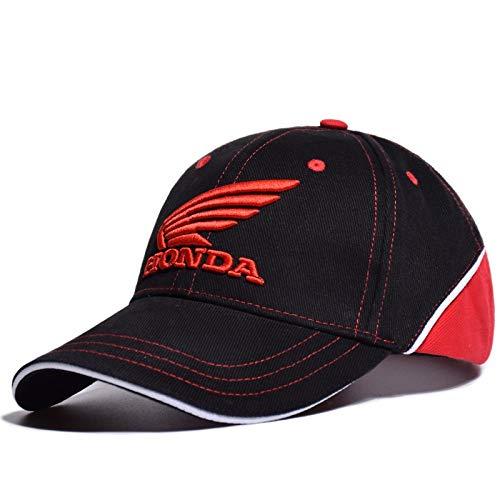 LOVEBLING Blinglove Merchandise Honda Racing Corporation Cap Baseball Hat Black - Red