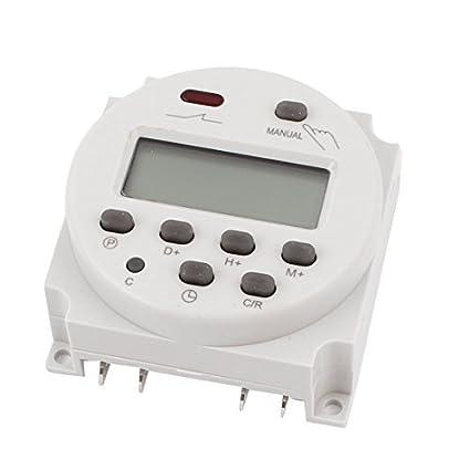LCD temporizador programable digital de potencia Interruptor de tiempo de retransmisión 16A AC/DC 110V