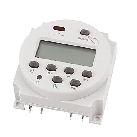 LCD temporizador programable digital de potencia Interruptor de tiempo de retransmisión 16A AC/DC 110V - - Amazon.com