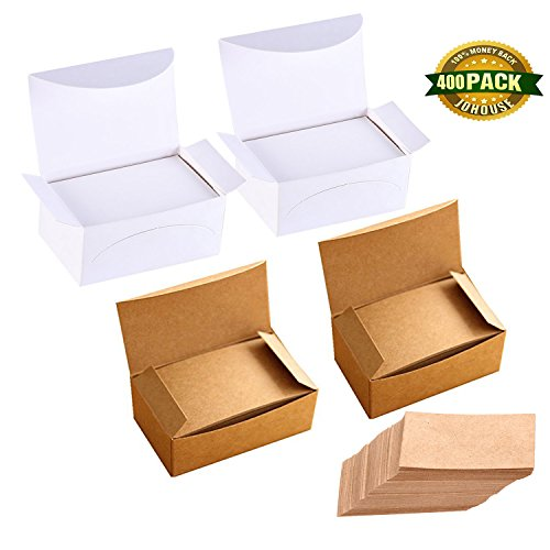 Word Cards, Blank Kraft Paper Business Card Kraft Cards Study Cards Word Card for DIY Message Gift Tags Xmas presents, 400 PCS