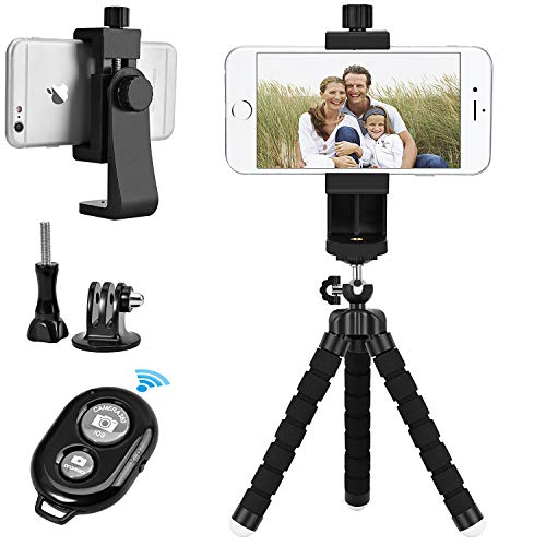 YOTOCversion Cell Phone Tripod, Premium Phone Tripod, Flexible Tripod with Wireless Remote Shutter, Compatible with iPhone/Android Samsung, Mini Tripod Stand Holder for Camera GoPro/Mobile Cell Phone