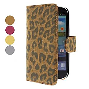 GOG-ships in 48 hours Leopard Pattern PU Leather Case with Stand and Card Slot for Samsung Galaxy S3 I9300 (Assorted Colors) , Brown