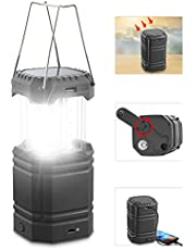 Rechargeable Solar Hand Crank Camping Lantern Light