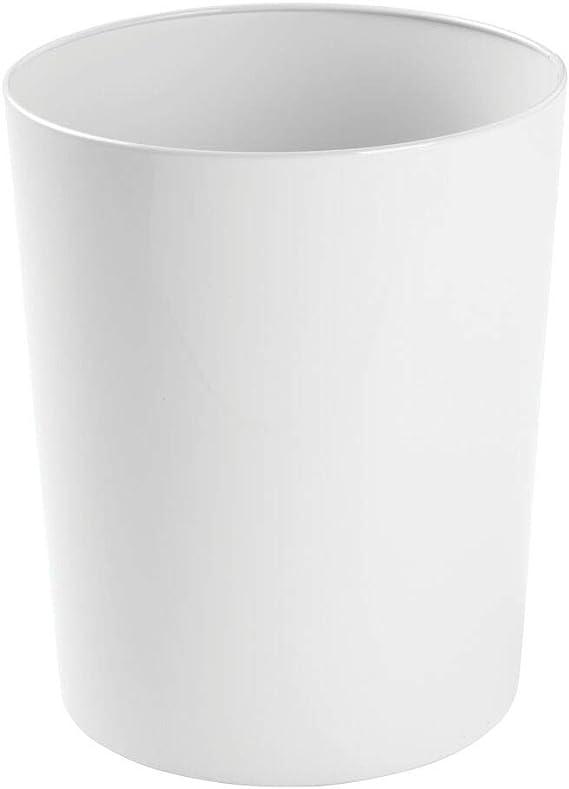 Depory 1 pc PU Papelera de Vintage 10 litros Impermeable Cubos de Basura sin Tapa Papelera para Oficina Cocina