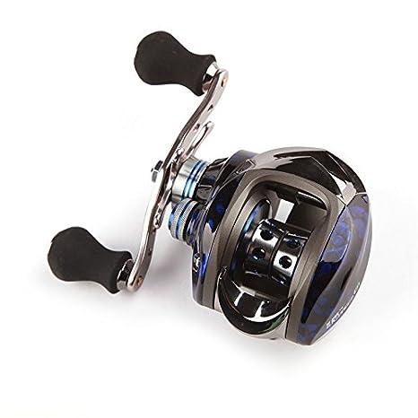 ryask (TM) Reino Unido 11BB 6.3: 1 Left mano Bait Casting Pesca señuelo