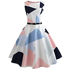 KYLEON Women's Dresses 1950s Vintage Pri...