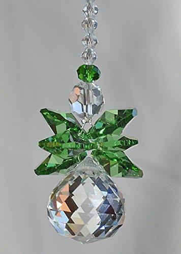 Crystal Guardian Angel Rear View Mirror Car Charm, Archangel Raphael, Travel Protection, Healing