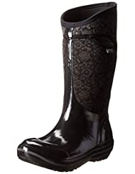 Bogs Women's Plimsoll Quilted Floral Tall Waterproof Boot