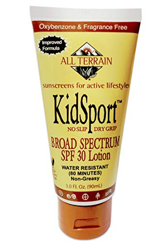 All Terrain KidSport SPF45, SPF30 Sunscreen Lotions, SPF28 Face Stick, Mineral Base Sunscreens, Oxybenzone & Octinoxate Free, UV Protection