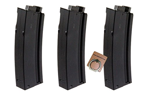 - CYMA 65rds Mid-Cap Magazine for MP5 MP5K Marui CYMA Classic Army G&G Airsoft AEG X 3pcs -Mobile Ring Included