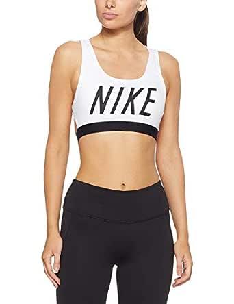 Nike Classic Logo, Sujetador de Sport Mujer, Blanco/Negro/Negro ...