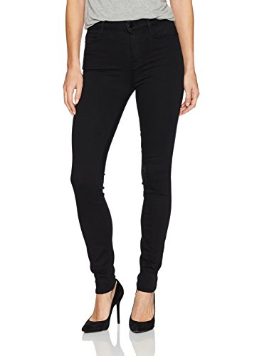 J Brand Jeans Women's 23110 Maria High Rise Skinny Jean, Seriously Black, 29 by J Brand Jeans