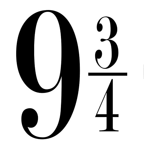 9 and 3/4 Decal Only Harry Potter Black
