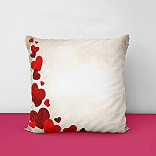 41 DqckdGeL. SS320 Heart Designs Printed Square Cushion Cover