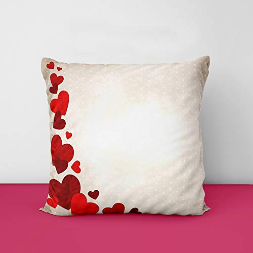 41 DqckdGeL Heart Designs Printed Square Cushion Cover