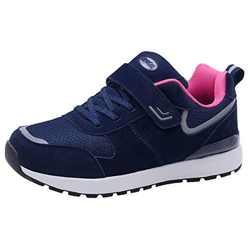 Shoes Blue Absorbing Women Plum Running Trainers Shock Jogging Lightweight Sneakers Fitness Walking Velcro Sport Monrinda Gym Shoes Comfortable XavSppf