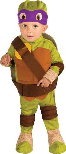 Tmnt Costumes Girl (Nickelodeon Ninja Turtles Donatello Romper Shell and Headpiece, Green, Infant)