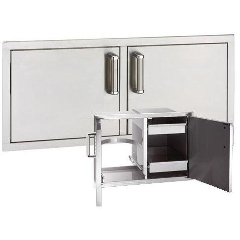 Fire Magic Premium Flush Mounted Double Doors w Trash Tray and Dual ()