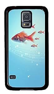 Samsung Galaxy S5 Goldfish PC Custom Samsung Galaxy S5 Case Cover Black