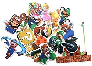 Super Mario Bros. Themed Set of 29 Assorted Stickers Decal Set ()