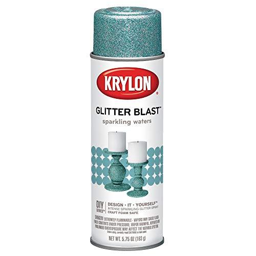 Krylon K03810A00 Glitter Blast, Sparkling Waters, 5.75 Ounce