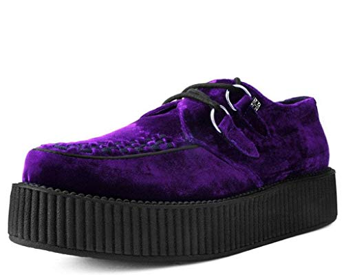 T.U.K. Shoes V9490 Unisex-Adult Creepers, Violet Velvet Viva Mondo Creeper - US: Men 11 / Women 13 / Purple/Fabric - Mondo Creeper Shoe