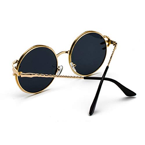 Eyewear Men for Sunglasses Grey UV Outdoor Driving Travel Claw Protection Frame Women Ocean Eyeglasses Sunglasses C2 Lens black Gold Piece Shopping Frame Round Fashion Luxury Metal Goggles Holiday rnqFx1r