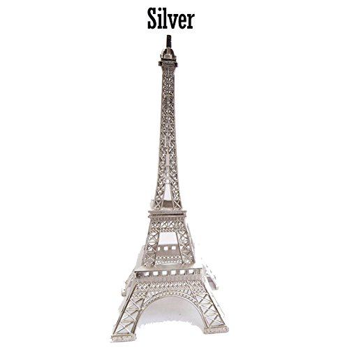 Craft and Party, Metal Eiffel Tower Centerpiece Decoration (Medium, Silver)