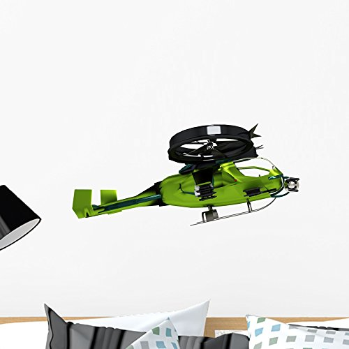 Sureal Elicopter Wall Decal by Wallmonkeys Peel and Stick Graphic (24 in W x 13 in H) - Sureal