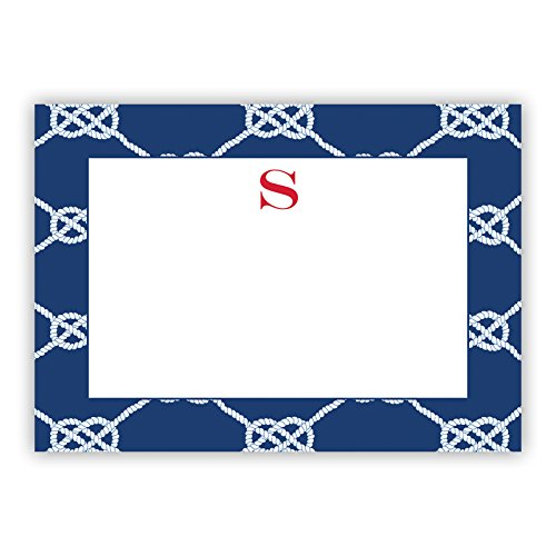 Boatman Geller AZFLAT14-SI-W-L''Letter L'' Nautical Knot Single Initial Flat Notes