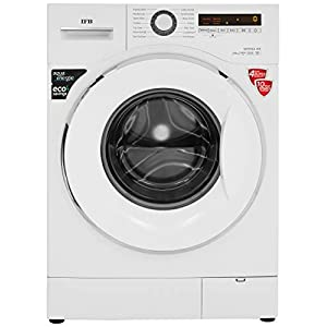 IFB 7 kg Fully-Automatic Front Loading Washing Machine (Serena WX, White, Inbuilt Heater, Aqua Energie water softener)