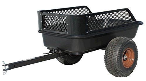 Impact Implements ATV Heavy Duty Utility Cart and Cargo Trailer- 1500lb Capacity; 15 cu. ft. Lawn Tractor Wagon